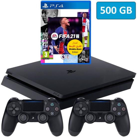 Sony PlayStation 4 Slim - 500GB - Fifa 21 - 2 Controller Bundle - HDR - PSVR Ready