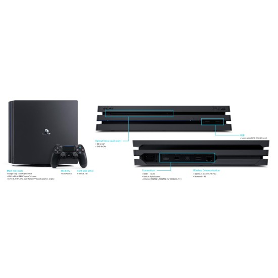 Sony PlayStation 4 Pro - 1 TB - Fifa 21 - 2 Controller Bundle - HDR - PSVR Ready