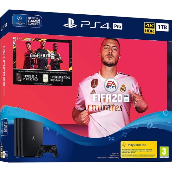 Sony PlayStation 4 Pro - 1 TB - Fifa 20 Bundle - HDR - PSVR Ready