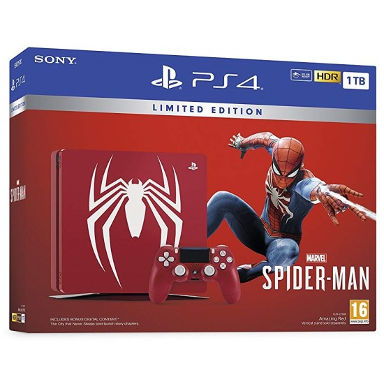 Sony PlayStation 4 Slim - 1TB - Limited Edition Amazing Red Marvel's Spider-Man