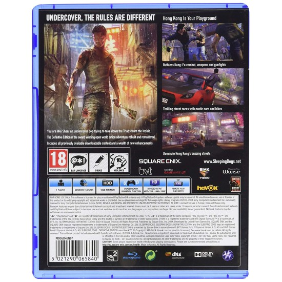 Sleeping Dogs Definitive Edition - PlayStation 4