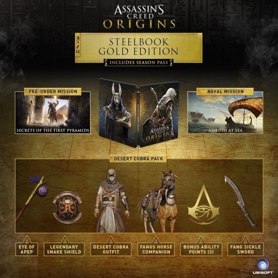 Assassins Creed Origins - SteelBook Gold Edition | XB1