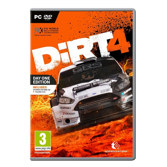 Dirt 4 - Day One Edition   PC - DVD Disc