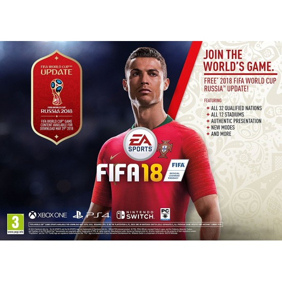 FIFA 18 - Russia World Cup 2018 Cover | PS4