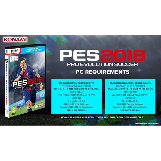 PES 2018 - Premium Edition | PC - DVD Disc