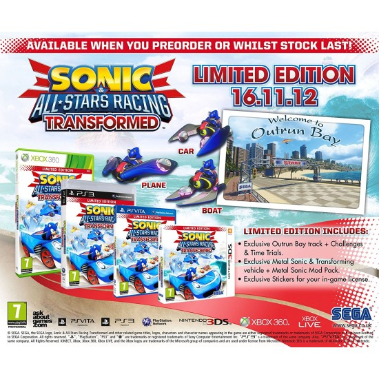 Sonic and All Stars Racing Transformed: Limited Edition | WiiU