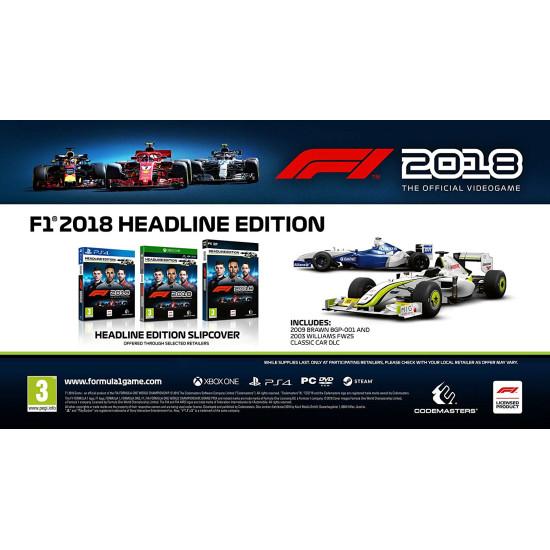 F1 2018 Headline Edition | PC Disc