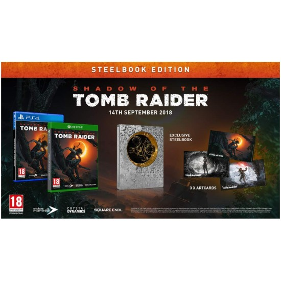 Shadow of the Tomb Raider - Steelbook Day One Edition - Arabic Edition - PlayStation 4