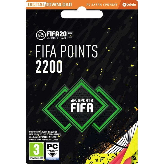FIFA 20 - 2200 FUT Points - PC Origin Digital Code