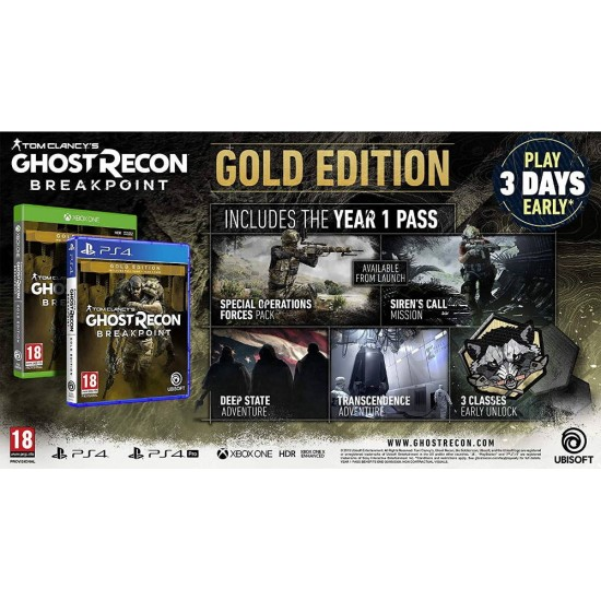 Tom Clancys: Ghost Recon Breakpoint - Gold Edition - Xbox One