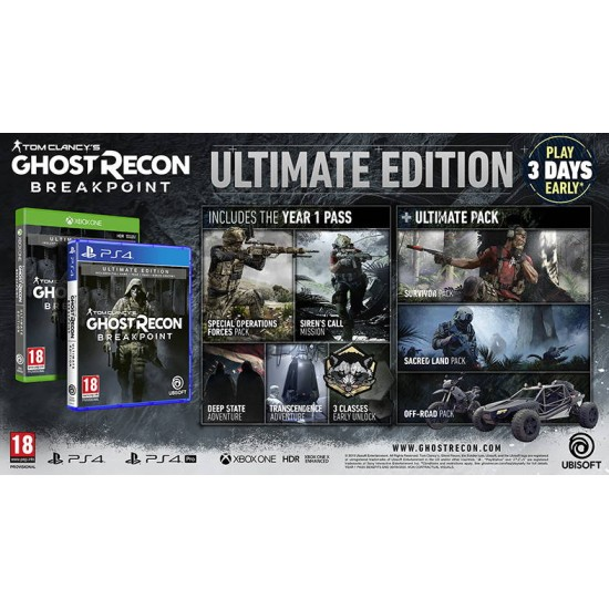 Tom Clancys: Ghost Recon Breakpoint - Ultimate Edition - PlayStation 4