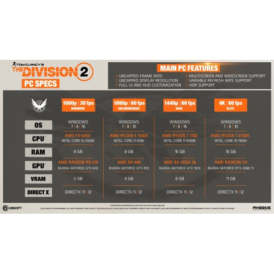 Tom Clancys The Division 2 - PC Uplay Digital Code