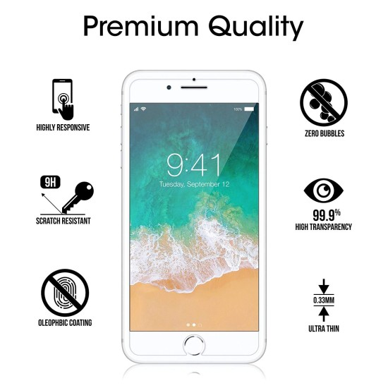 "amFilm Glass Screen Protector for iPhone 8 Plus, 7 Plus, 6S Plus, 6 Plus (5.5"") (2 Pack) Tempered Glass Screen Protector"