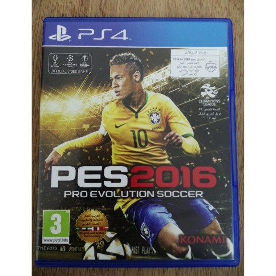 Pro Evolution Soccer 2016 - Day 1 Edition - Arabic Edition - Used Like New - PlayStation 4