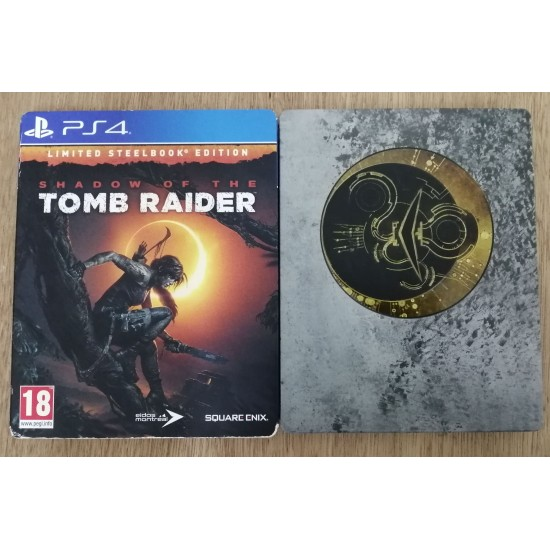 Shadow of the Tomb Raider - Steelbook Day One Edition - Arabic Edition - New - Open Box - PlayStation 4