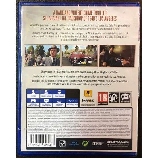 L.A. Noire - New Broken Box | PS4