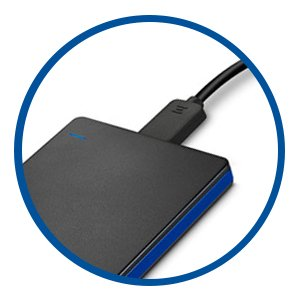 how to plug a portable hard drive into ps4