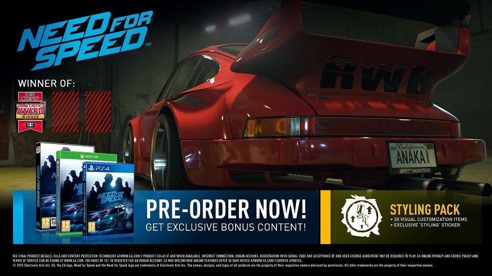 Need for speed no limits ps4 release date