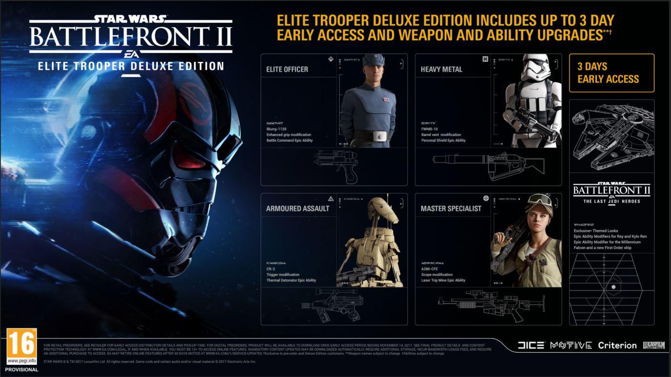 star wars battlefront ii elite trooper deluxe edition ps4. Black Bedroom Furniture Sets. Home Design Ideas
